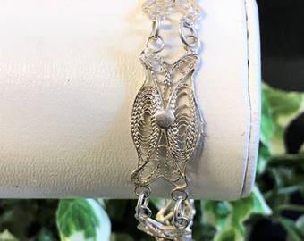 A Beautiful Silver Filigree Bracelet
