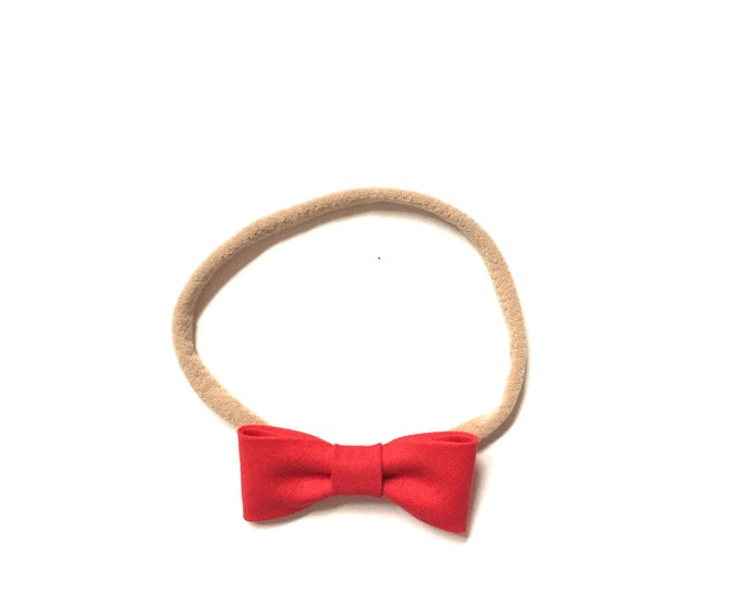 Itty Bitty Headband || Cherry Red