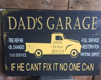 Dad's Garage Sign, Pap Paw Garage Sign, Grandpas Garage Sign, Fathers Day Gift
