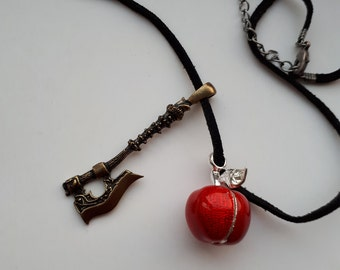 Snow white and the huntsman inspired pendant necklace