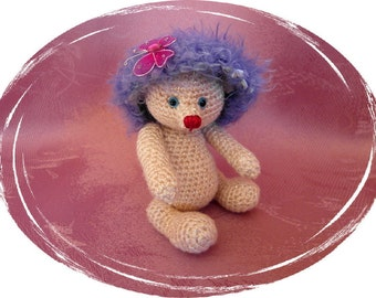 "Teddy ""Frostie"", Amigurumi, 5 x 5 way jointed, handmade, handmade, unique divided, OOAK"