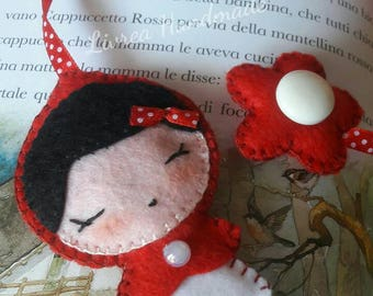 Bookmark Red Riding Hood _ Bookmark Red cap-pannolenci