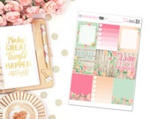 Barnwood Floral Full Box Quotes - Planner Stickers, Full Box Quotes, Full Box Stickers, Floral Stickers, Barnwood Stickers