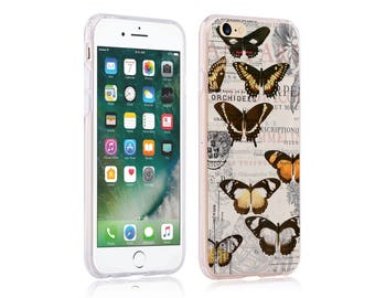 iphone 6 plus case ultra slim soft case back cover for apple iphone 5 se iphone 6 plus iphone 7 plus retro vintage butterfly