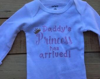 Daddy's Princess Baby Bodysuit - Baby Girl Bodysuit
