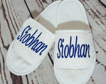 Personalised Slippers, Wedding Accessories, Wedding Shoes