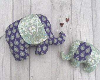 Stuffed Elephant, Softie Elephant, Stuffed Animal, Baby Gift, Baby Shower Gift, Stuffed Elephant Softie, New baby Gift, Purple Elephant