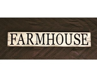 Free Shipping, Big Farmhouse Wood Sign, Rustic Sign, Farmhouse Sign, White Farmhouse Sign, Farmhouse Home Decor Sign, Holiday Gift
