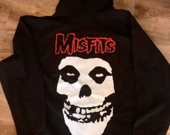 Misfits Front and Back Skull T-Shirt