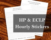 Hourly Conversion Kit, Partial Day - for Vertical Planners, sized to fit Happy Planner and ECLP
