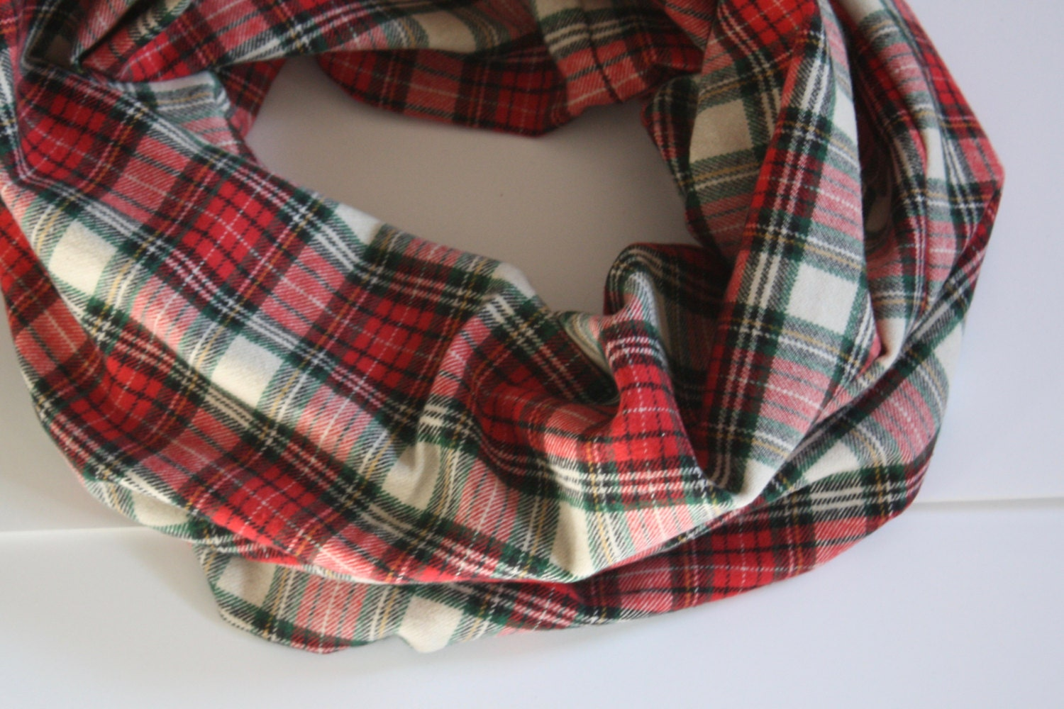 red and green plaid scarf flannel neck warmer womens winter scarf red plaid - Christmas Plaid Scarf