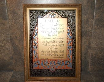 Vintage Father's Day Plaque with Poem