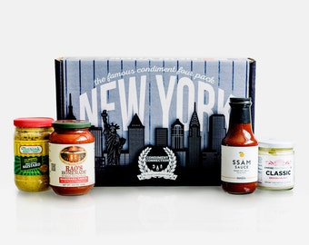 New York City Gift Box - Famous Condiment 4-Pack