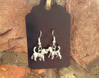 Tibetan Silver Dog Earrings