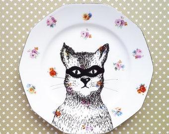 "Plate ""Bestiary in the locker room!"""