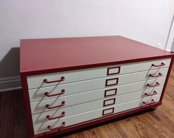 industrial Flat file coffee table