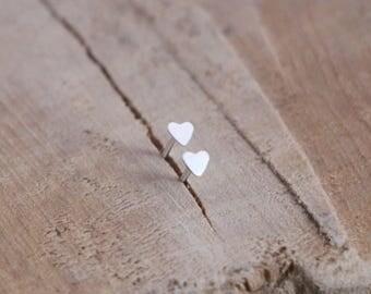 Tiny Heart Studs   Heart Earrings   Sterling Silver Little Heart Stud   Minimal Love Earring   Gift Studs   Small Heart Stud Earrings