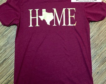 HOME Texas Style. Available in YOUTH and ADULT sizes.