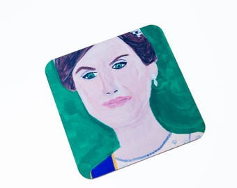 Queen Letizia of Spain coaster, Queen of Spain, Spanish Royal Family
