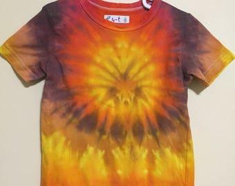 4T Tie Dye T-shirt in Orange Spider