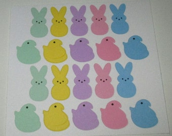 Marshmallow Candy Easter Stickers