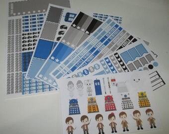 Wibbly Wobbly Timey Wimey Full Week Planner Sticker Kit