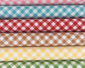 Gingham Bundle from Sew Cherry 2 Collection by Lori Holt for Riley Blake, 6 different fabrics