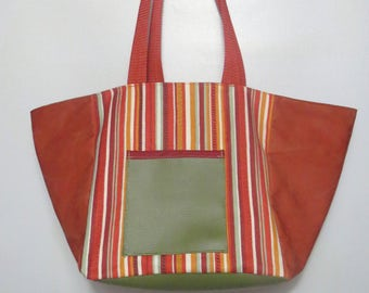 bag Tote Brown, pink, single piece