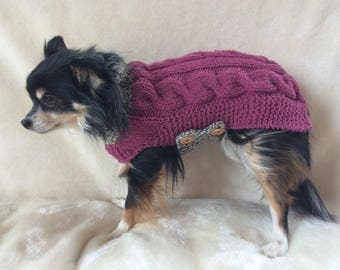 Small dog sweater, Chihuahua sweater, small breed dog clothes, dog sweater, chihuahua coat, xs dog sweater, xs dog clothes