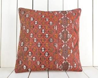 kilim pillow, turkish kilim pillow, turkish pillow, vintage pillow, decorative pillow, pillow, bohemian pillow, kilim, kilim cushion cover