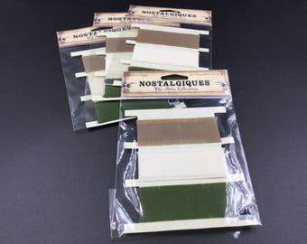 Set of 4 packages of Nostalgiques Ripped Fabric Strips