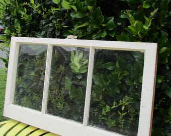 vintage antique 3 pane 32x18 wood window sash frame wedding picture frame 32 - Window Pane Picture Frames