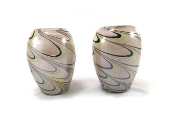Pair of Empoli glass vases