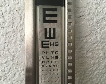 Vintage Eye Chart Test Slide Snellen Tumbling E American Optical Company Project-O-Chart Slide