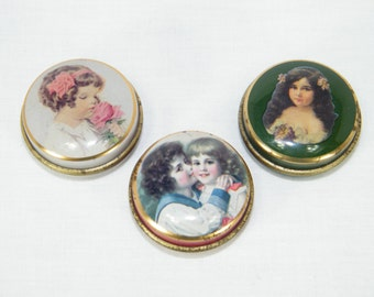 3 Vintage Chambers Candy Co. Tin Boxes Made In England