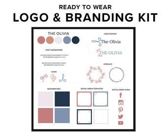 Logo Design Branding Kit | Premade Copper Branding Package Business Logo Template | Brand Identity Design for Bloggers, Female Entrepreneurs