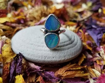 Double Opal statement ring- size 6.25