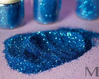 Biodegradable EU approved Cosmetic Glitters in Blue Martini
