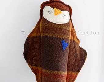 Owl, Softie, Wool Felt, Softtoy, Birds, Childrensgift