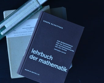 Bookseller Scheffers Textbook mathematics de Gruyter Geometry integral/differential calculus, collector's prop