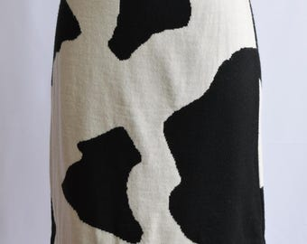 Vintage cow print point skirt