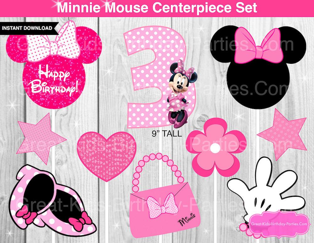 Minnie mouse centro de mesa para cumplea os for Decoracion cumpleanos minnie
