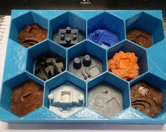 Terraforming Mars Game Gear : 3D Tiles Storage Boxes for 80 pc Tile Set