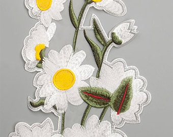 Gorgeous Daisies Embroidered  Appliques
