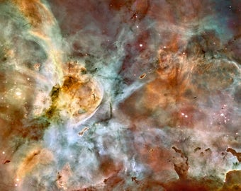 NASA Space Print, Carina Nebula, Hubble Space Telescope Photograph, Museum Quality Photo Art Print