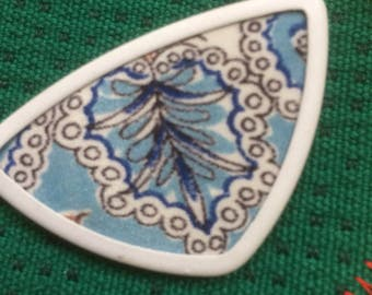 Vintage upcycled silk brooch