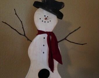 Snowman Birdhouse