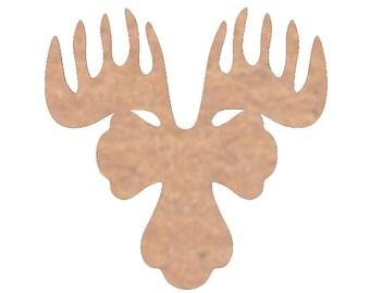 DH-67, Moose Cutout - Nursery Cutout - Wedding Gift -  Door Hanger - Moose Mascot