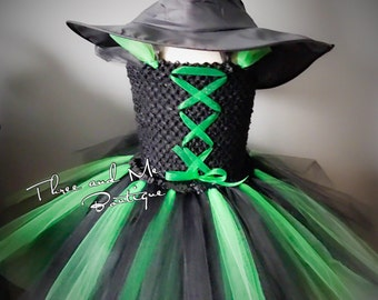 Wicked Witch of the West Inspired Tutu Dress; Little Witch; Emerald  Witch