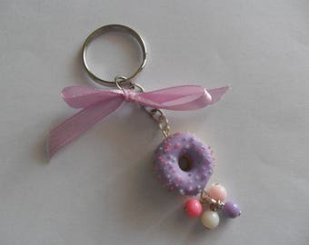 "Key ring ""glazed donut"""